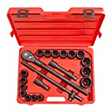TEKTON 3/4-Inch Drive Impact Socket Set, Inch, Cr-V, 6-Point, 3/4-Inch - 2-Inch, 21-Piece   4899