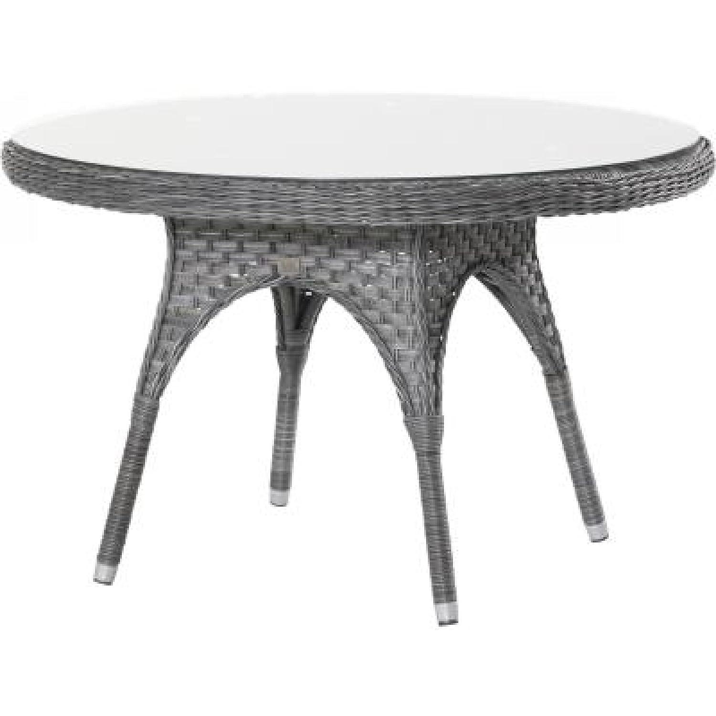 4Seasons Outdoor Eldorado Tisch rund 120 cm Esstisch mit Glasplatte Polyrattan Duet Charcoal günstig