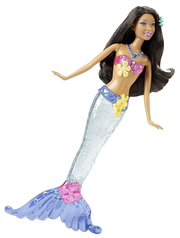 Barbie Lichtertraum Meerjungfrau braun V7049 als Weihnachtsgeschenk