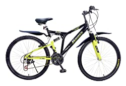 Kross K-40 26T 18 Speed Mountain Bike (Black/Green)