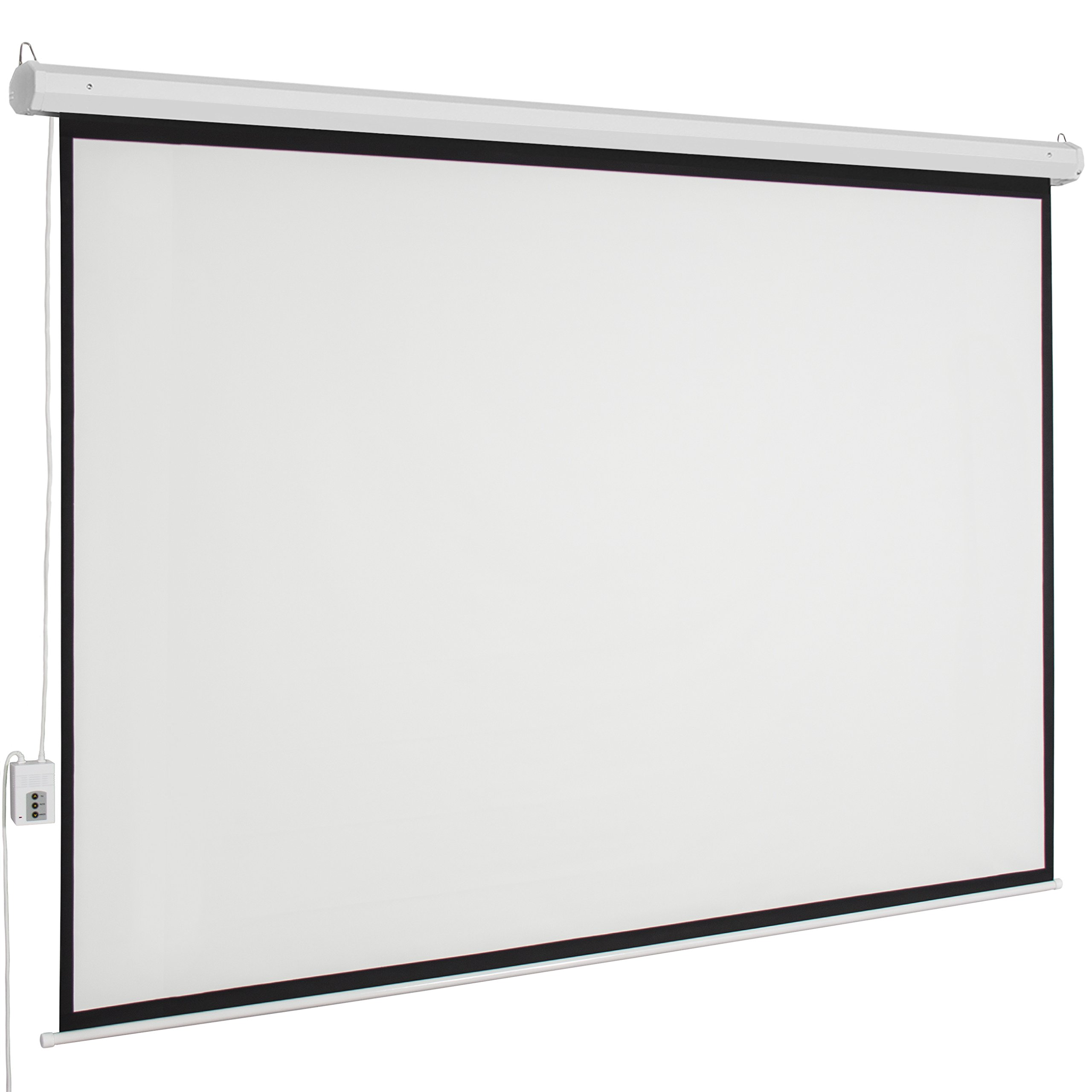 Galleon best choice products motorized electric auto hd for 100 inch motorized projector screen