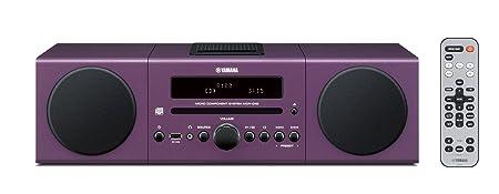 Yamaha MCR042PP Chaîne Hifi avec tuner FM pour CD/Ipod/Iphone Pourpre