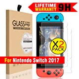 2PCS Tempered Glass Screen Protector for Nintendo Switch by Doestyle, Nintendo Switch 3D Touch Anti-Bubble HD Ultra Clear Screen Protector