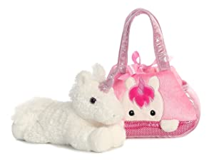 Aurora World Fancy Pals Pet Carrier, Peek-A-Boo Unicorn (Color: Multi, Tamaño: 7 inches)