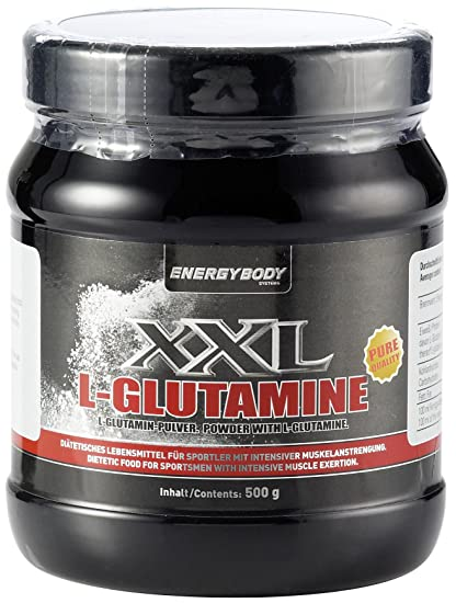 Energybody XXL L-Glutamine Neutral, 1er Pack (1 x 500 g)