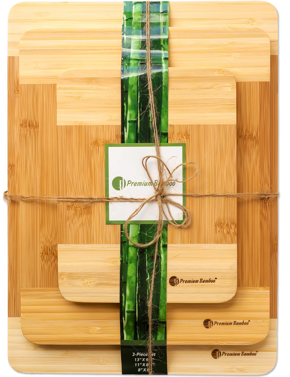 Premium Bamboo Cutting Board Via Amazon