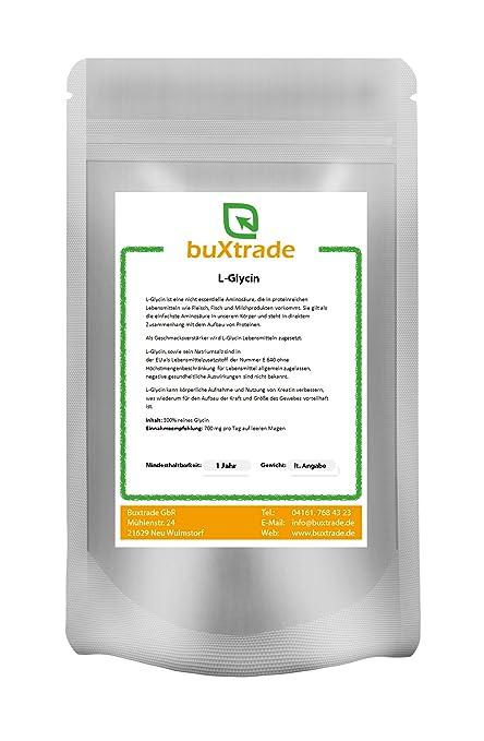 10 x 1 kg Glycin L-Glycin proteinogene Aminosäure E640 Pulver 10 kg