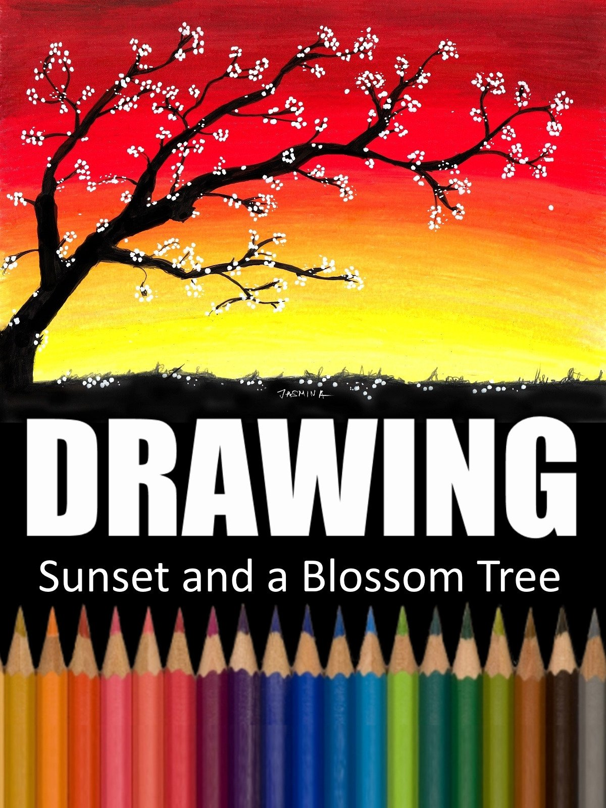 Clip: Drawing Sunset and a Blossom Tree