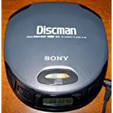 Sony Discman D-151 CD Player (Color: Grey)