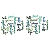 Sizzix, Multi Color, Thinlits Die Set 660225, Friendship Words Script by Tim Holtz, 16 Pack, One Size (?wo ?ack) (Tamaño: ?wo ?ack)