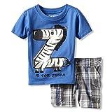 Nannette Baby-boys Infant 2 Piece Zebra Short Set