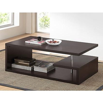 Metro Shop Baxton Studio Lindy Dark Brown Modern Coffee Table
