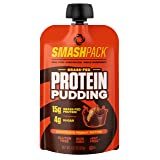 SmashPack Protein Pudding - Grass-Fed Protein Pudding Pouches - Low Sugar, Low Carb Snack - 15g Protein - 4g Sugar - 130 Calories - Gluten Free, Non-GMO & rBST-Free (Chocolate Peanut Butter, 6 Pack)
