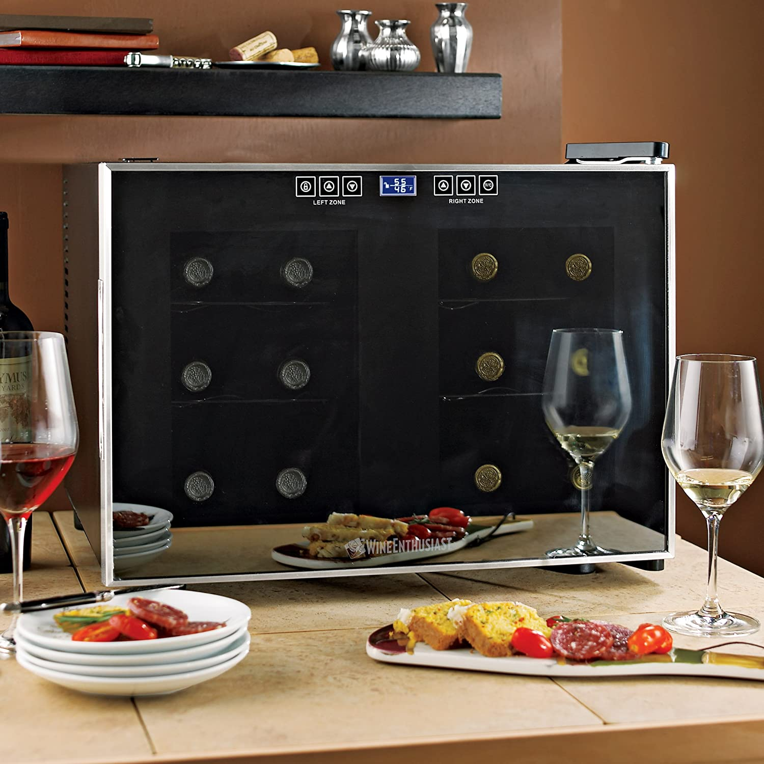 Wine Enthusiast Silent 12 Bottle 2-Temp