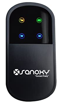 SANOXY Unlocked 3G Wireless N Mobile Broadband Router with SIM Card Port - iPhone size WiFi Mobile Hotspot Router Built-In 3G modem and Rechargeable Battery- IEEE 802.11b, IEEE 802.11g, IEEE 802.11n WCDMA Travel Router works with T-Mobile and AT&T SIM Cards