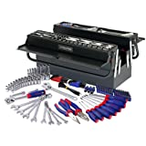 WORKPRO W009038A 183-Piece Tool Set w/ 5 Compartment Cantilever Tool Box (Tamaño: 183PC Tools Kit)