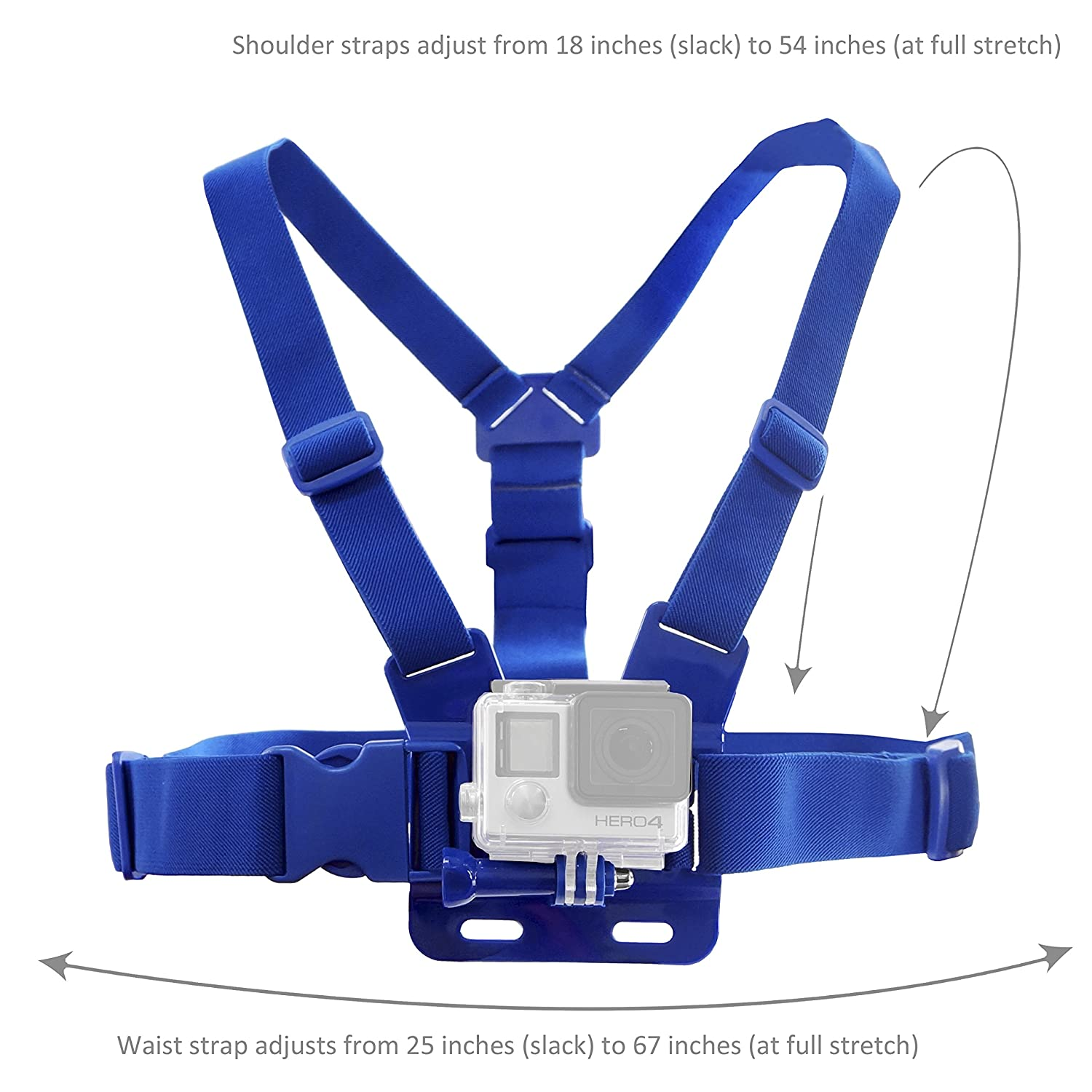 CamKix Chest Mount Harness for GoPro - Adjustable Chest Strap Compatible with GoPro Hero4, Hero3+, Hero3, Hero2, and Hero Camera - Also Includes 1 J-Hook, 1 Thumbscrew , 1 CamKix Drawstring Storage Bag gopro accessories head belt strap mount adjustable elastic for gopro hero 4 3 2 1 sjcam xiaomi yi camera vp202 free shipping