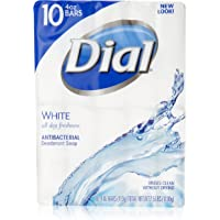 3 Pack Dial Antibacterial Deodorant Soap 10 Count (White)