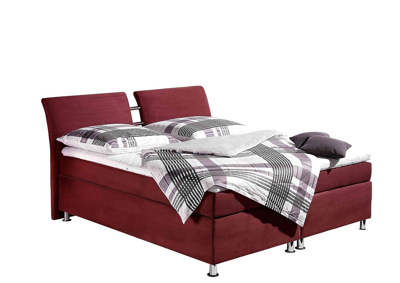 Maintal Betten 235857-4604 Boxspringbett Dean 180 x 200 cm, bordeaux jetzt kaufen