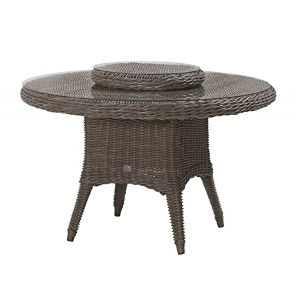 4Seasons Outdoor Madoera Dining Tisch ø130 cm mit Drehteller Lazy Susan ø55 cm