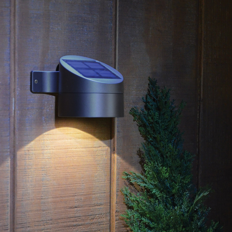 External Solar Wall Lights : Moonrays 91851 15-Lumen Wall Mount Solar Powered Deck Sconce, Bronze , New, Free eBay