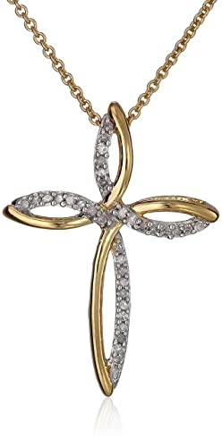 18k-Gold-Plated-Sterling-Silver-Diamond-Cross-Pendant-Necklace-1-10-cttw-18-
