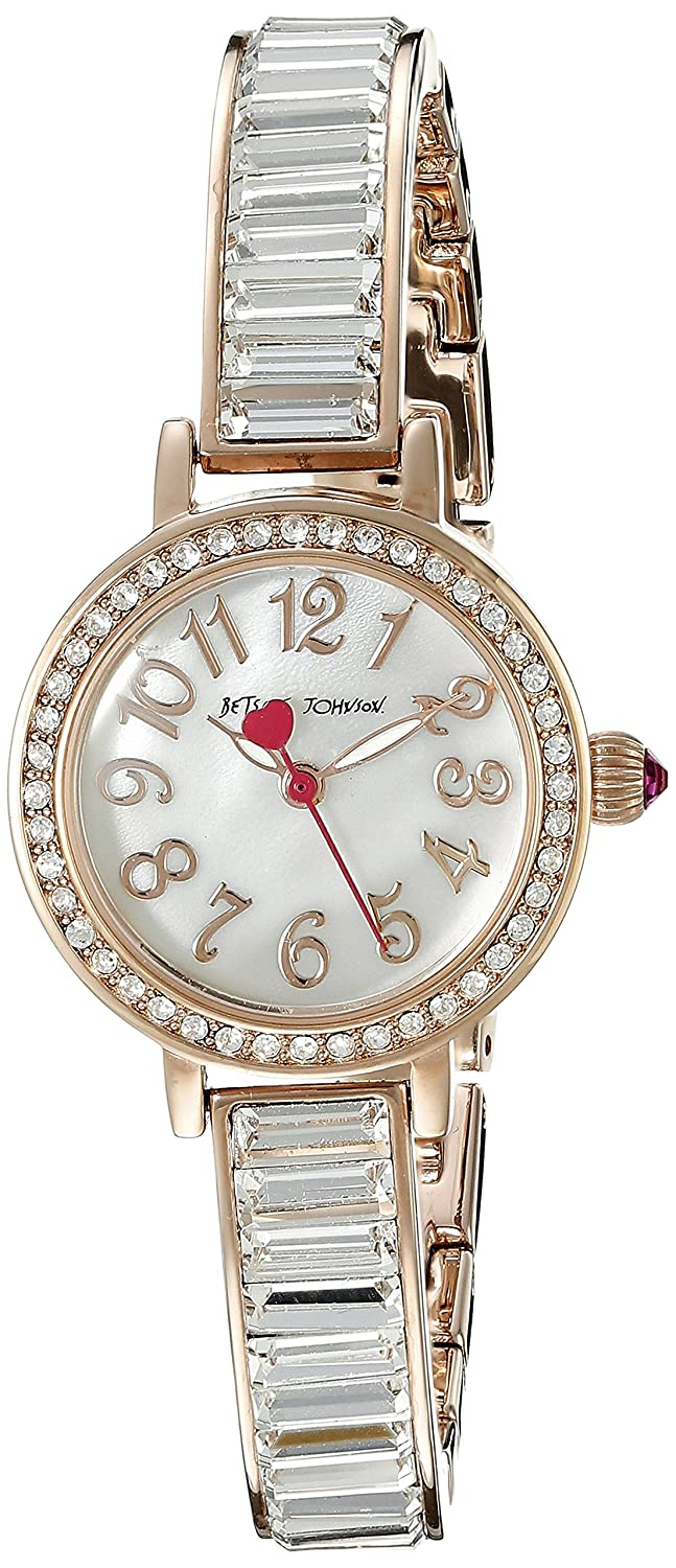 Betsey Johnson Women's BJ00549-03 Analog Display Quartz Rose Gold Watch