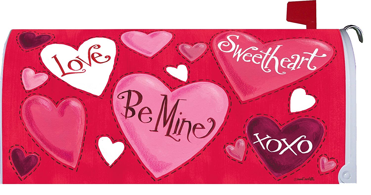 Valentine Hearts Magnetic Mailbox Cover