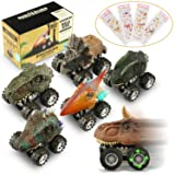 Dinosaur Cars,6 Pack Pull Back Dinosaur Vehicle Set, Mini Pull Back Animal Car Toy for Toddlers Boys Girls,Animal Vehicles for Kids Party Favors