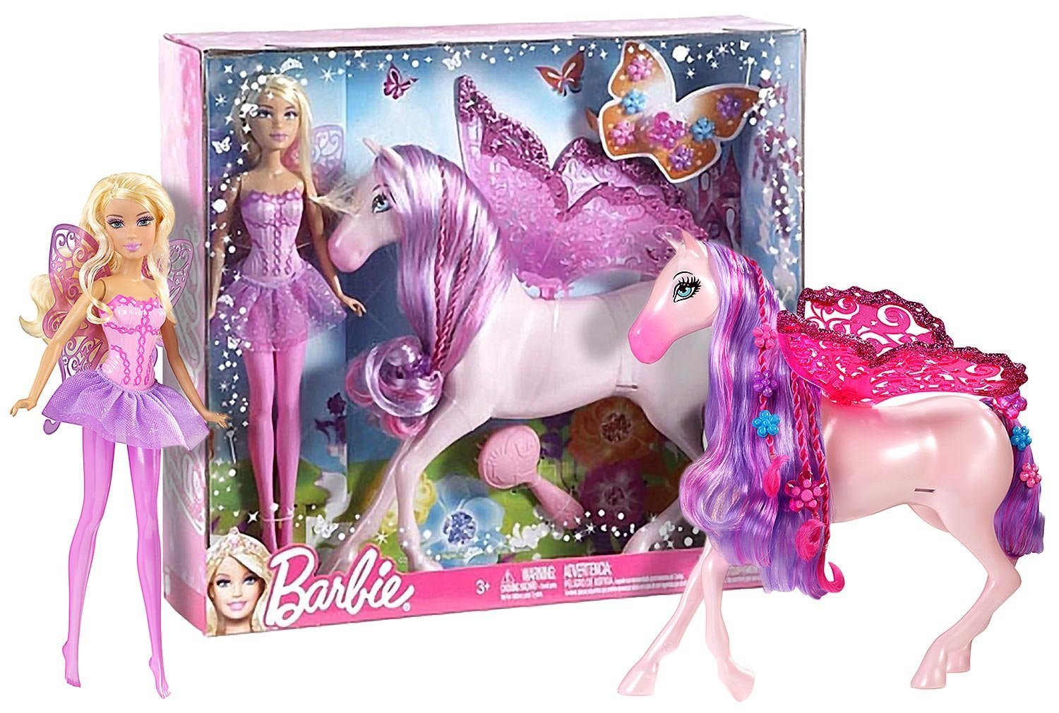 Barbie ~11″ The Princess and The Popstar Fairy Doll and Pegasus Figure online bestellen