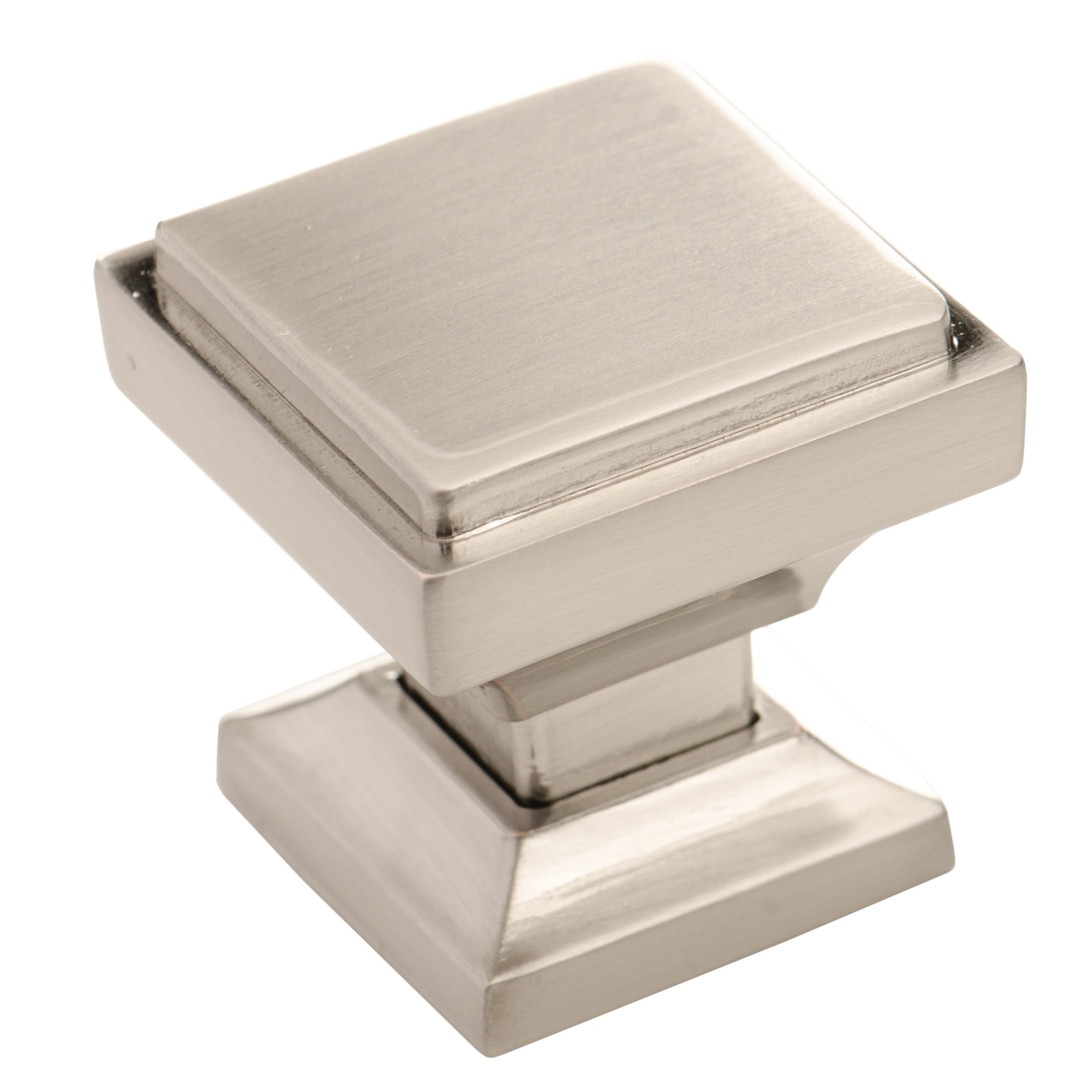 Brushed nickel cabinet knobs from southern hills pack of for Square kitchen cabinet knobs