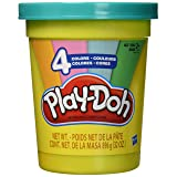 Play-Doh 2-Lb. Bulk Super Can of Non-Toxic Modeling Compound with 4 Modern Colors - Light Blue, Green, Orange, & Pink (Tamaño: Pack of 1)