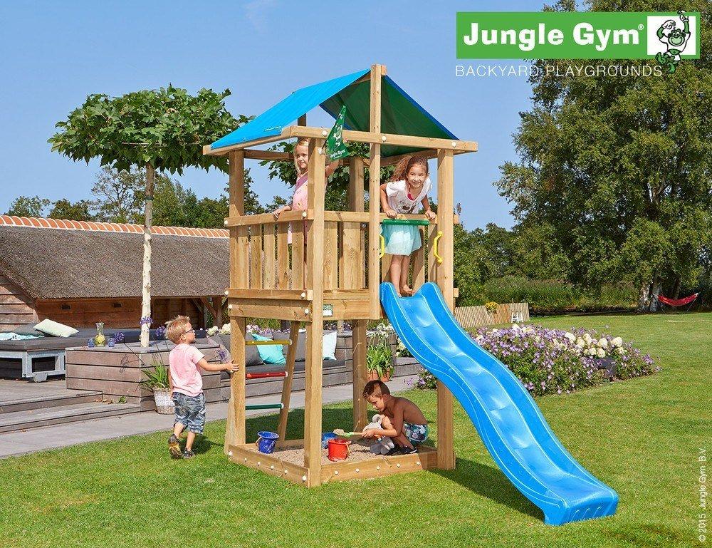 Spielturm Jungle Hut – Set mit Feuerwehrstange Sandkasten Kletterturm – Jungle Gym (inkl. Holzpaket) online kaufen