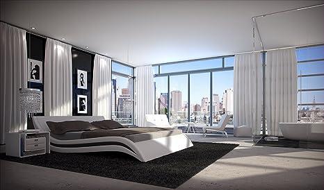 Innocent Accent 180 x 200 cm Diseño de cuna cama acolchada en blanco o negro
