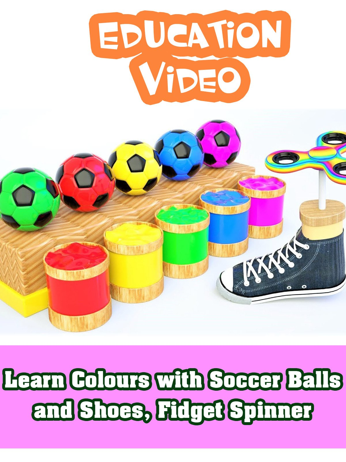 Learn Colours with Soccer Balls and Shoes, Fidget Spinner