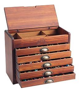 DMC Holzschrank mit 465 Stickgarnen  Garnschrank 7600  SpielzeugBewertungen und Beschreibung