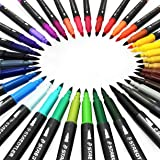 Staedtler Marsgraphic Duo Watercolour Fibre Tip Pens - Double Ended - Assorted Colours - Wallet of 36 (Color: Assorted)