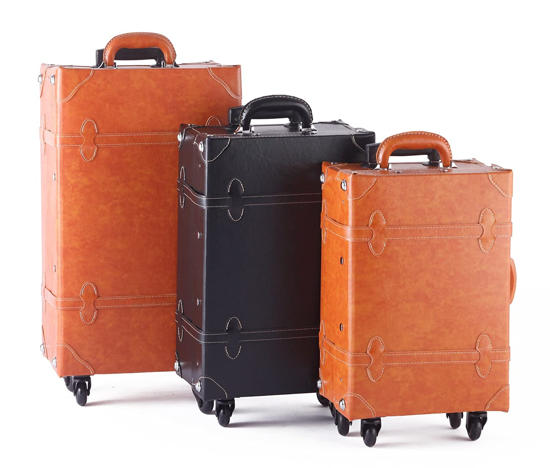 写真:【MOIERG】キャリーバッグ プレーン TSA キャリーケース 4輪 軽量(S, キャメル)[81-55038-72]