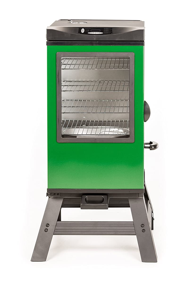 "Masterbuilt 20077116 4-Rack Digital Electric Smoker with Leg Kit Cover and Gloves, 30"", Green"