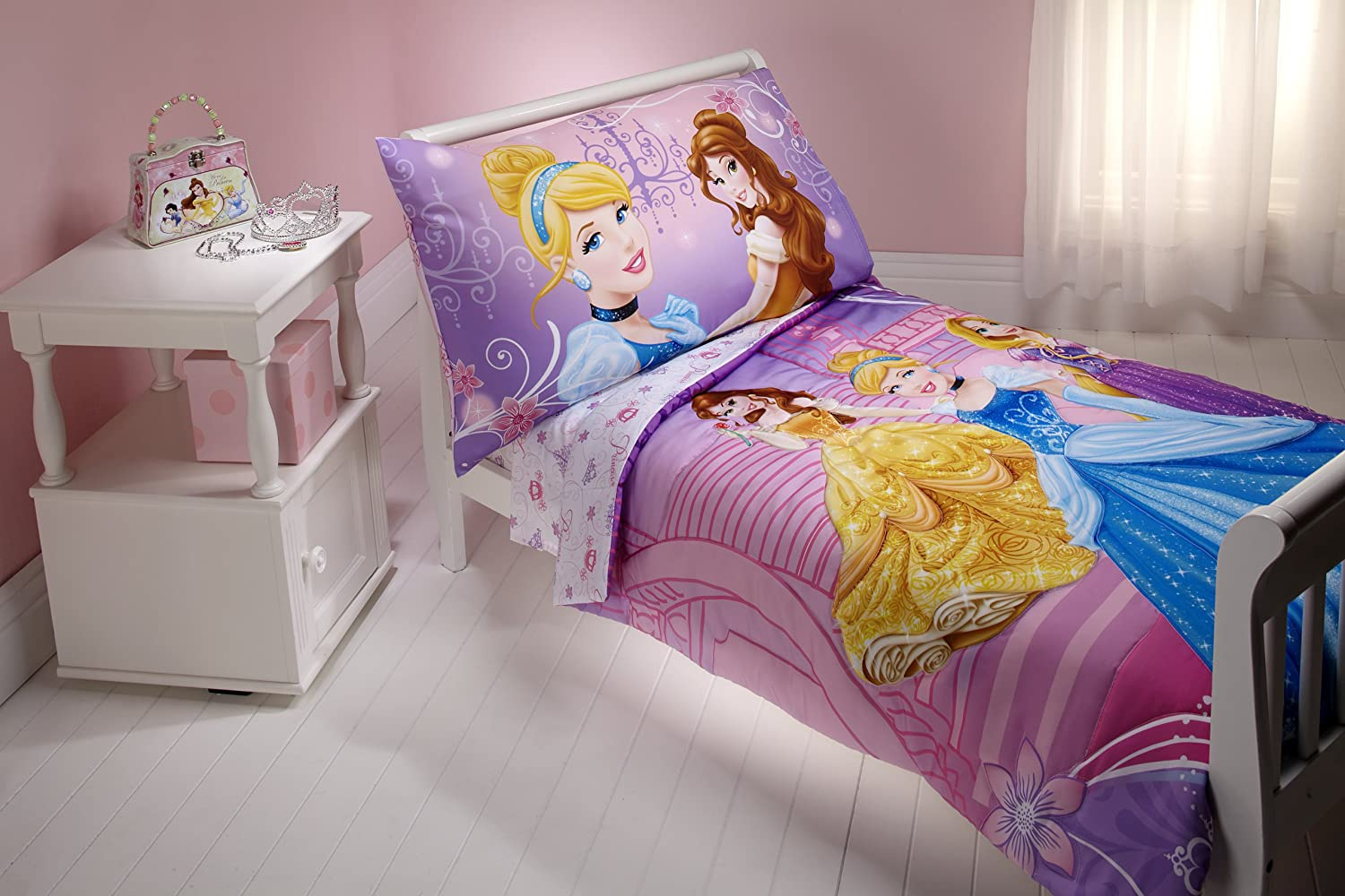 BnM Disney Princess 4 piece toddler bed set-shining dresses at Sears.com