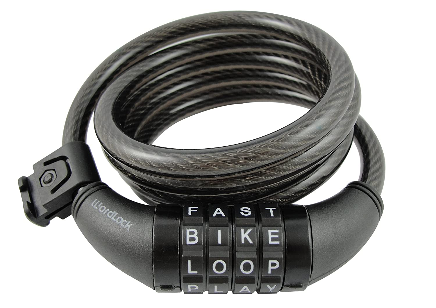 Wordlock CL-411-BK 4-Letter Combination Bike Lock Cable, Black, 5-Feet at Sears.com