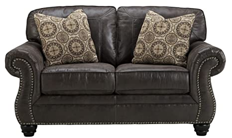 Signature Design by Ashley Breville Charcoal Loveseat