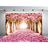 9x6ft Cherry Blossoms Street Seamless Poly Fabric Photo Backdrops Customized Studio Background Amazing Sakura Flower Road Studio Props RM-006 (Color: Rm-006, Tamaño: 9X6FT)
