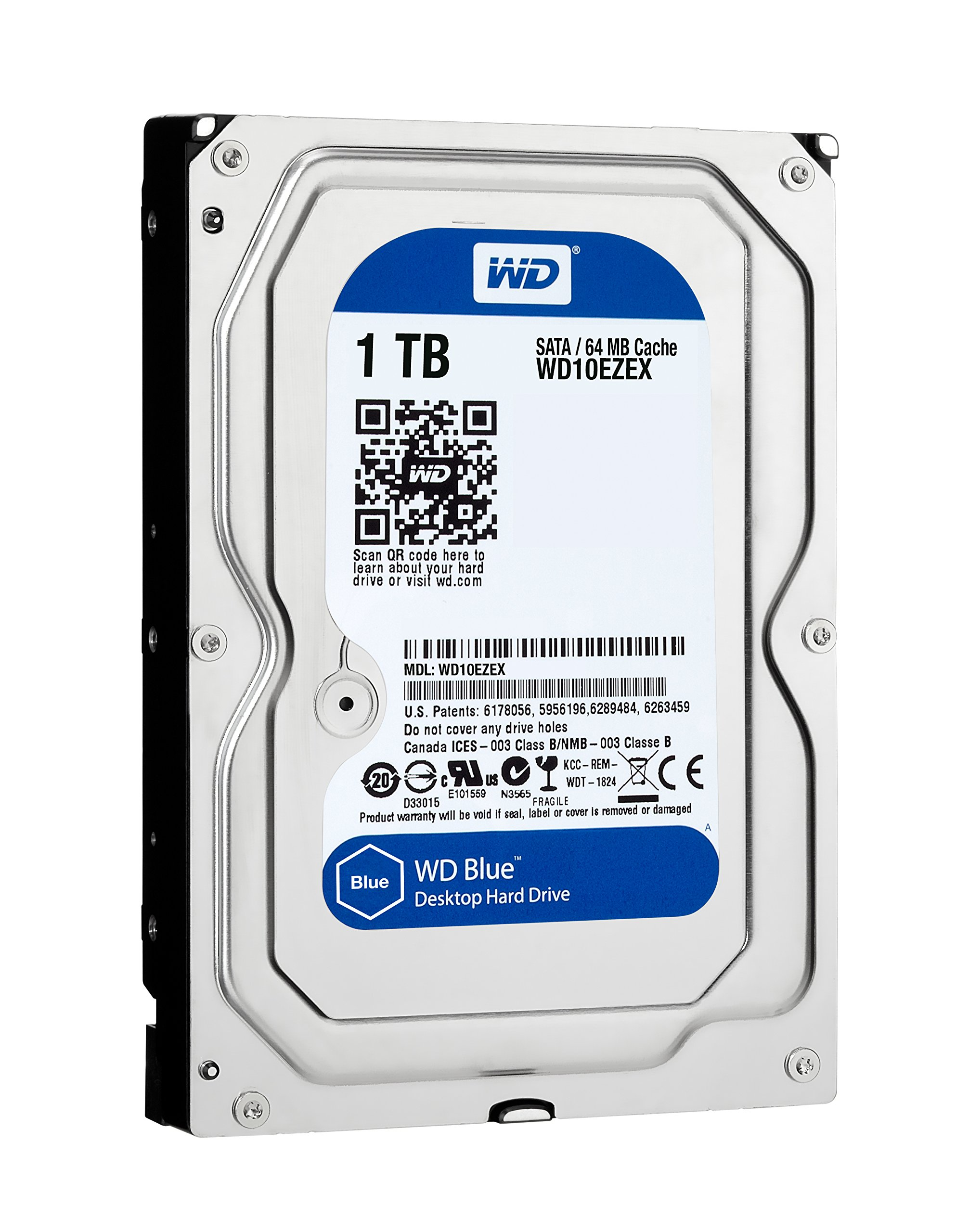 WD Blue Desktop Hard Drive 1TB, 7200 RPM, SATA 6 Gb/sec