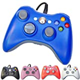 PomeMall USB Wired Game Pad Controller for Xbox 360, Windows 7 (X86), Windows 8 (X86) (Blue)
