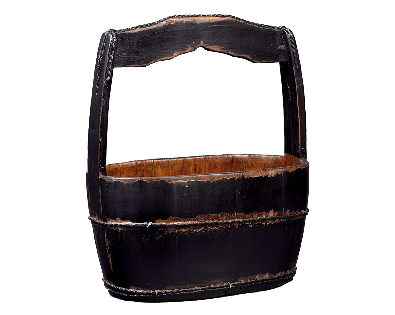 Antique Revival Shanghai-Style Water Bucket, Black 0
