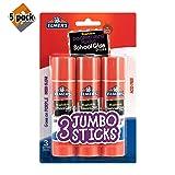 Elmer's Glue Stick (E579), Disappearing Purple, 3 Sticks 5 Pack