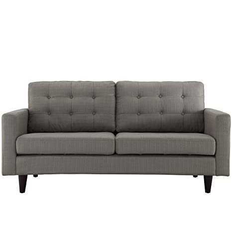 LexMod Empress Loveseat, Oatmeal