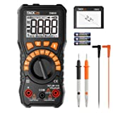 Multimeter, 6000 Counts Tacklife DM09 TRMS Digital Multimeter NCV Detection Amp Ohm Volt Multi Meter, Live Line, Frequency, Resistance, Capacitance, Duty Cycle Tester 2.2inch Large LCD (Color: Black & Orange, Tamaño: DM09)
