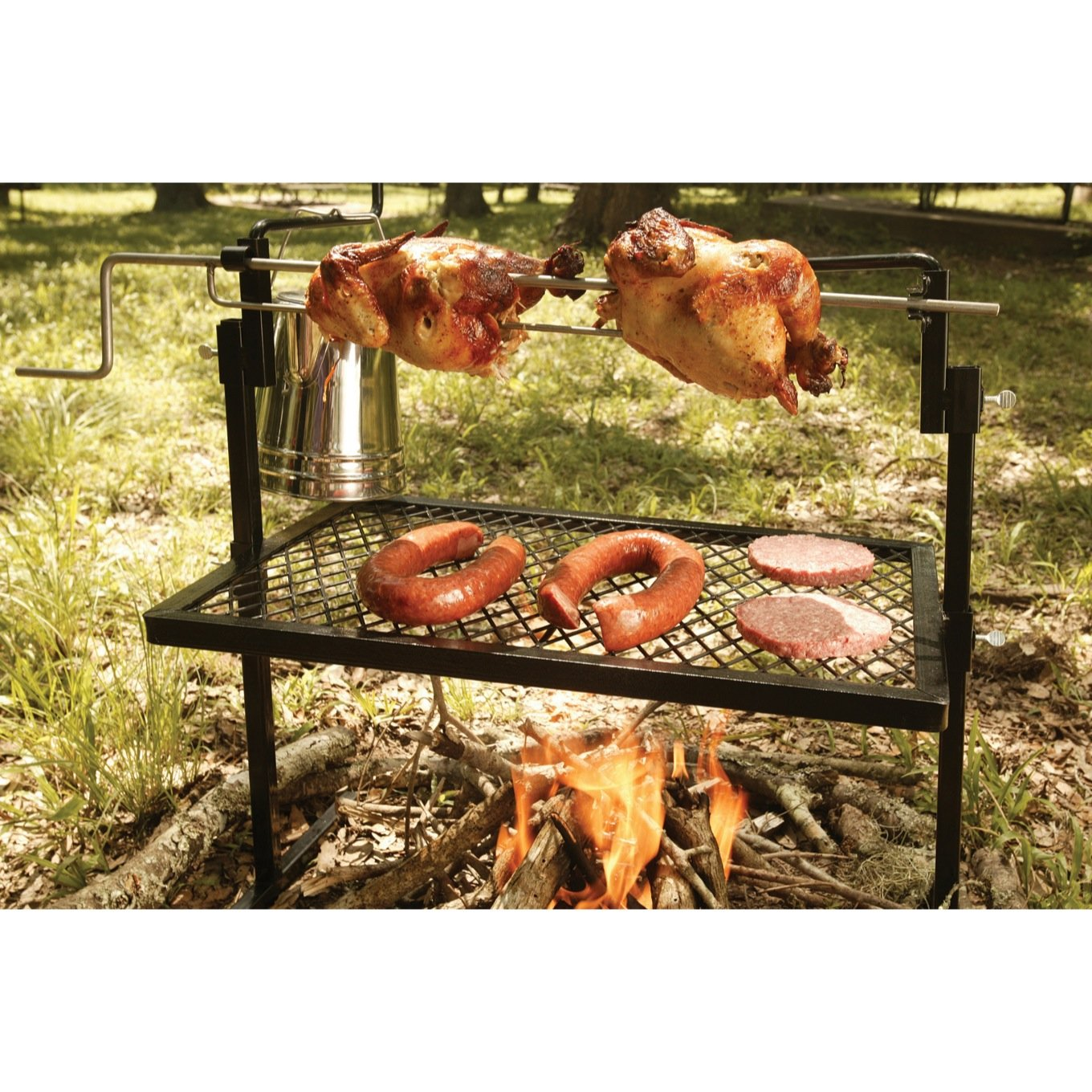 Bbq Grill Rotisserie Spit Outdoor Cooking Barbecue